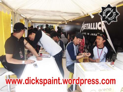 dickspaint tattoo temporary metallica GBK 5 upload