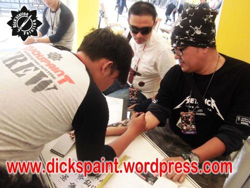 dickspaint tattoo temporary metallica GBK 8 upload