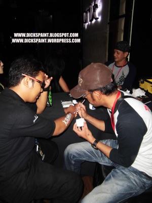 Face Body Painting Glow UV Launching Jakarta