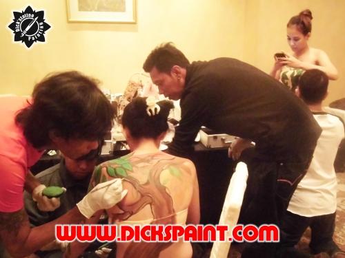 body painting jakarta kobelco