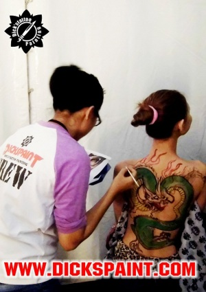 body painting jakarta