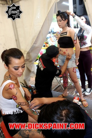 face body painting automotif jakarta 2014