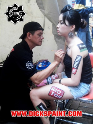 face and body painting jakarta
