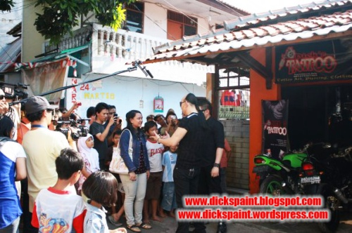 Dickpaint, face painting, with the master RCTI, jakarta5