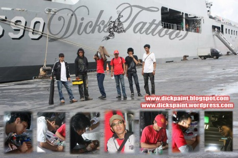 Dickspaint Crew Face and Body Painting tattoo Temporary KRI Surabaya