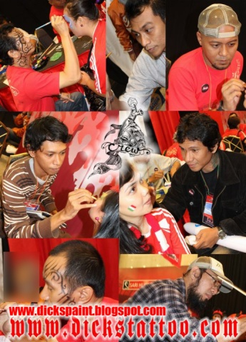dickspaint crew on proses Face and Body Painting