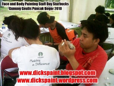dickspint, Face and Body Painting, Staff Day Starbucks jakarta 1