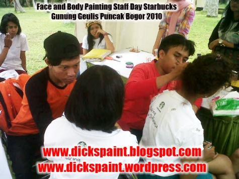dickspint, Face and Body Painting, Staff Day Starbucks jakarta 10