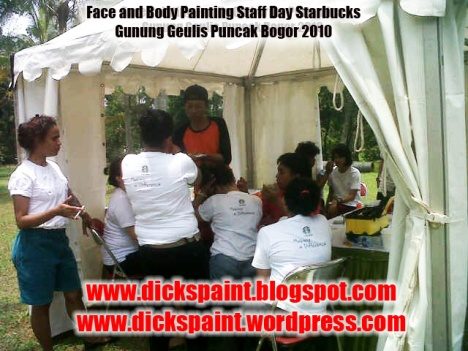 dickspint, Face and Body Painting, Staff Day Starbucks jakarta 2