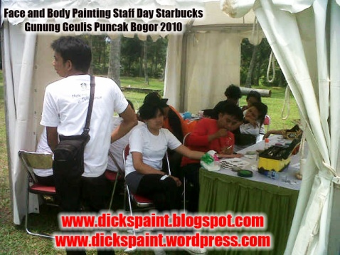 dickspint, Face and Body Painting, Staff Day Starbucks jakarta 5