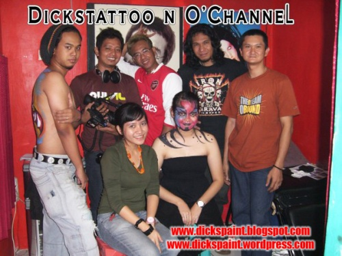 face painting, dickspaint with O-chanel, jakarta 1