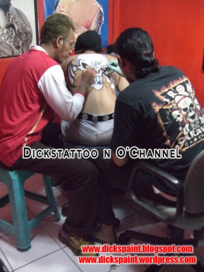 face painting, dickspaint with O-chanel, jakarta 2