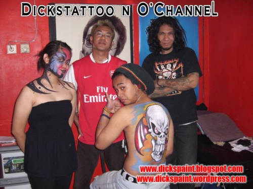 face painting, dickspaint with O-chanel, jakarta