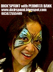 face painting, family gathering, butterfly permata bank 4, jakarta
