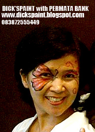 face painting, family gathering, butterfly permata bank 5, jakarta