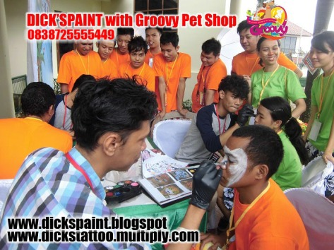 face painting, family gathering pet shop, jakarta 4