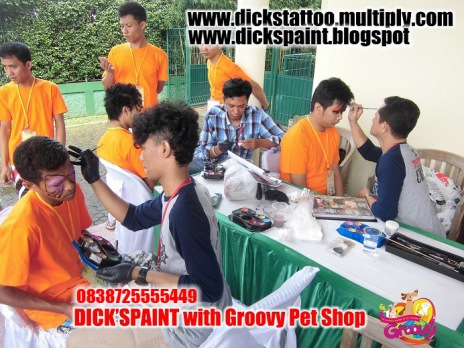 face painting, family gathering pet shop, jakarta 6
