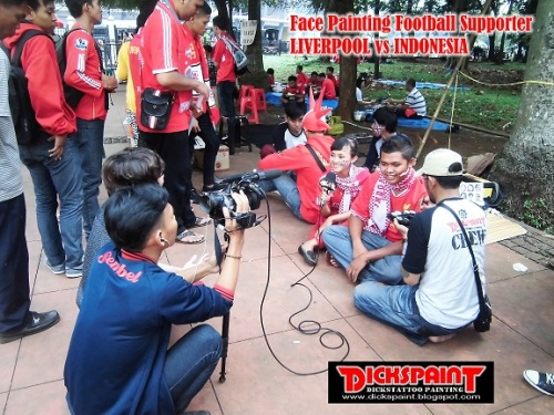 face Painting Football Supporter liverpool vs indonesia GBK Jakarta 12 bb