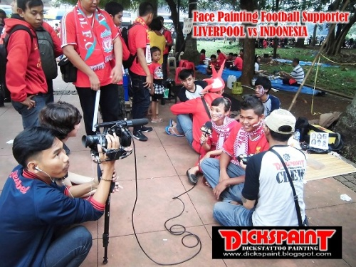 face Painting Football Supporter liverpool vs indonesia GBK Jakarta 13 bb