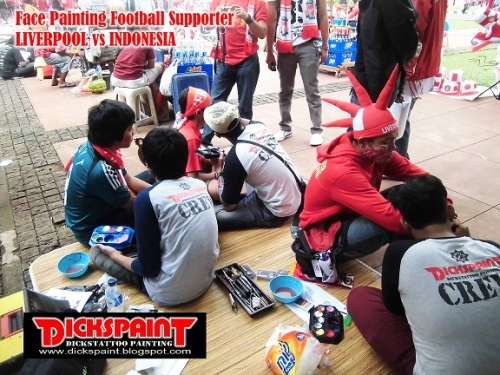 face Painting Football Supporter liverpool vs indonesia GBK Jakarta 16 upload
