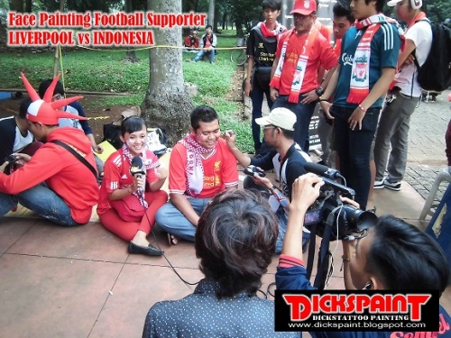 face Painting Football Supporter liverpool vs indonesia GBK Jakarta 18 upload