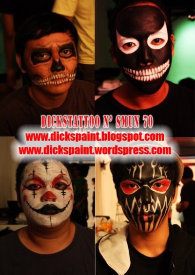 face painting, graduation, 1SMUN 70 2, jakarta 1