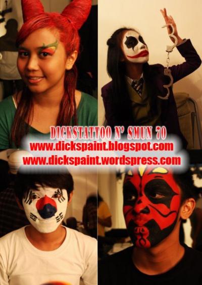 face painting, graduation, 1SMUN 70 2, jakarta