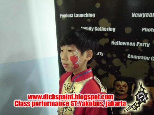 face painting heart , graduation, st yakobus, jakarta2