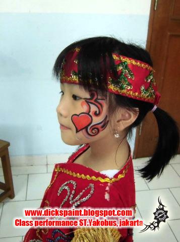 face painting heart , graduation, st yakobus, jakarta4