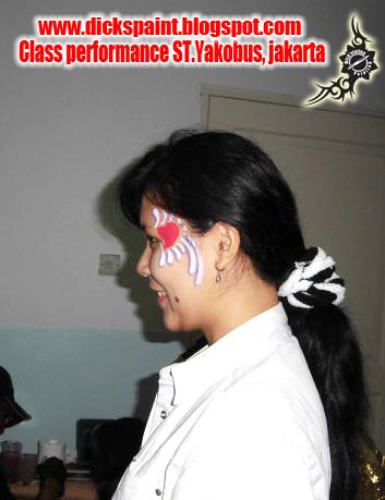 face painting heart , graduation, st yakobus, jakarta5
