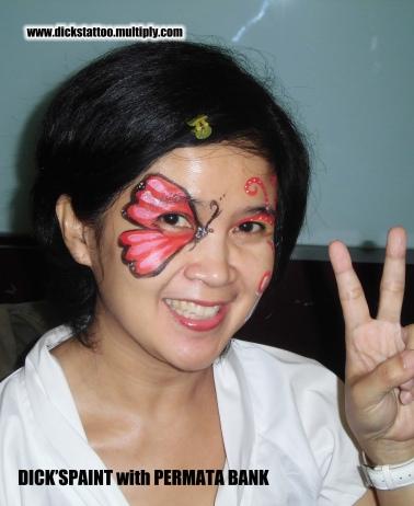 face painting permata bank 6, jakarta