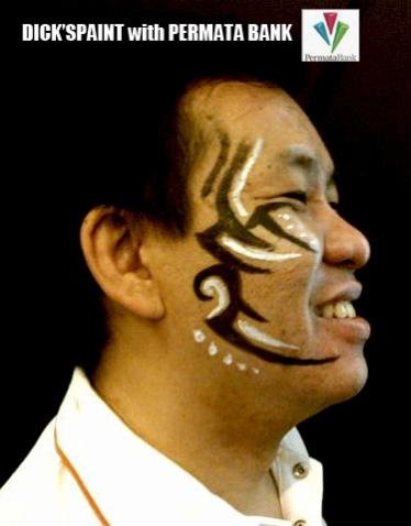 face painting tribal permata bank 8, jakarta