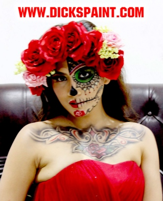 facepainting halloween sugar skull jakarta