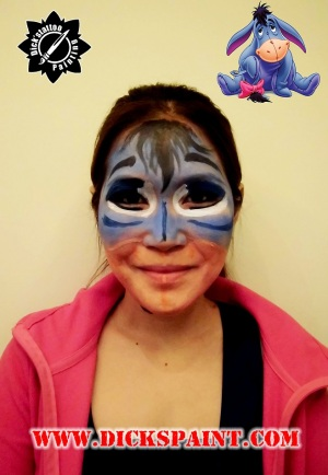 Face Painting Eeyore cartoon sudirman jakarta