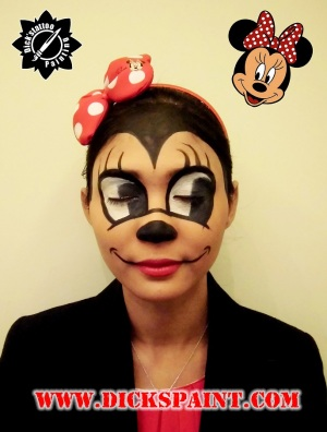 Face Painting Mini Mouse Cartoon Sudirman jakarta