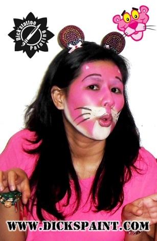 face painting jakarta Cartoon Pink Phanter