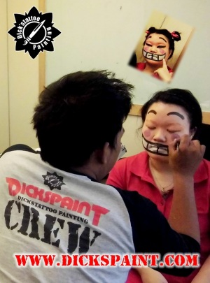 Face Painting Cartoon Character Pucca Sudirman jakarta