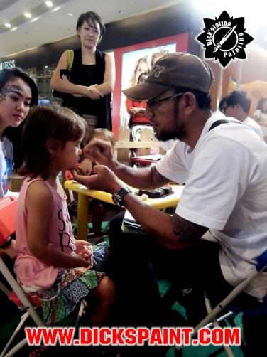 Facepainting Autoblid Centralpark Jakarta