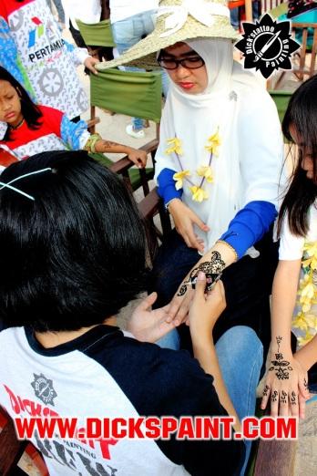face painting dan henna jakarta pertamina