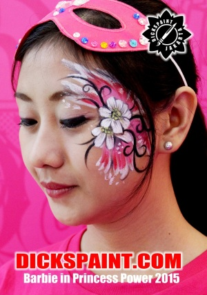 face painting barbie jakarta