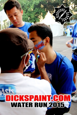 face painting water run 2015 jakarta
